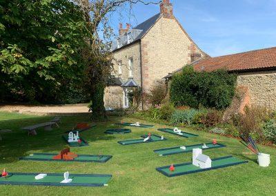 mini golf set up East Afton