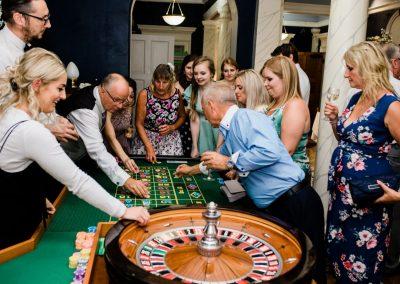 roulette casino hire game Landguard Manor