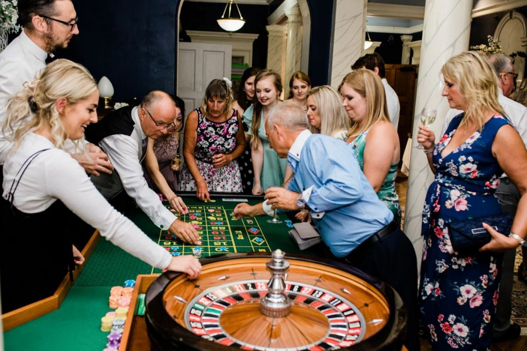 guests playing on our roulette table