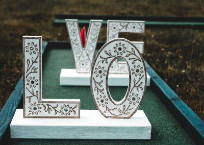 mini golf love letters prop