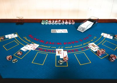 blackjack casino table hire