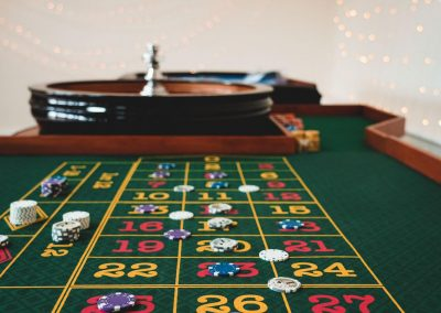 roulette game in play